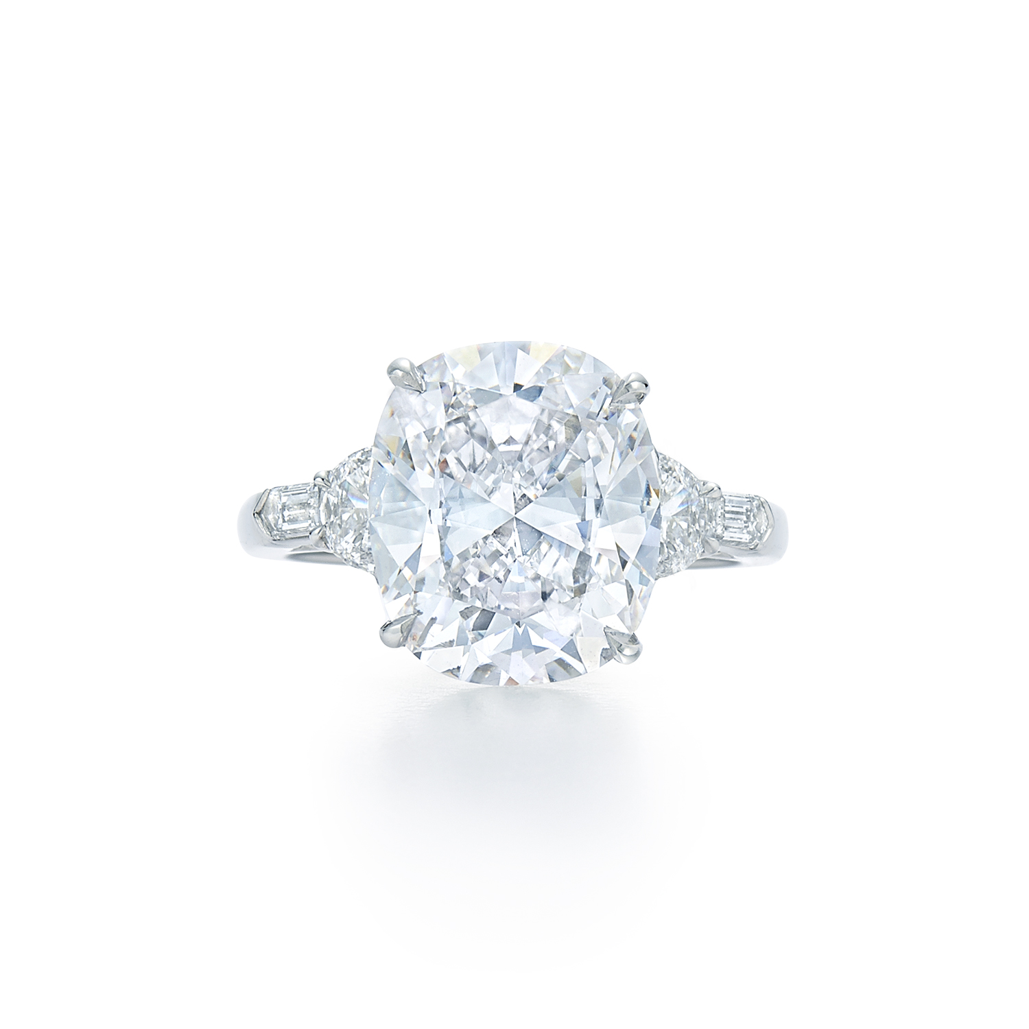 d cut halo twt cusion white i gold in h ct cushion sidestones engagement certified set ring prong diamond