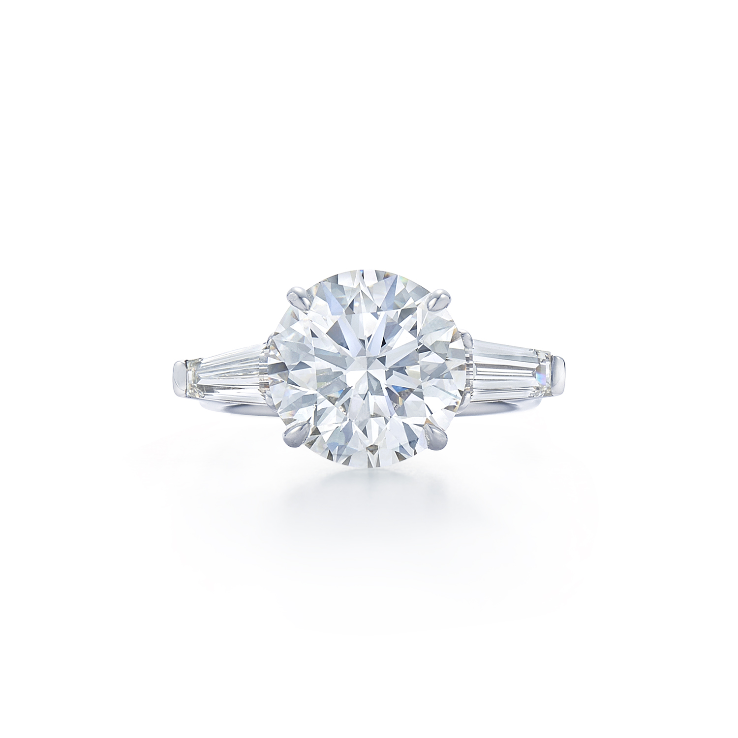 Round Brilliant Diamond Engagement Ring At Dk Gems