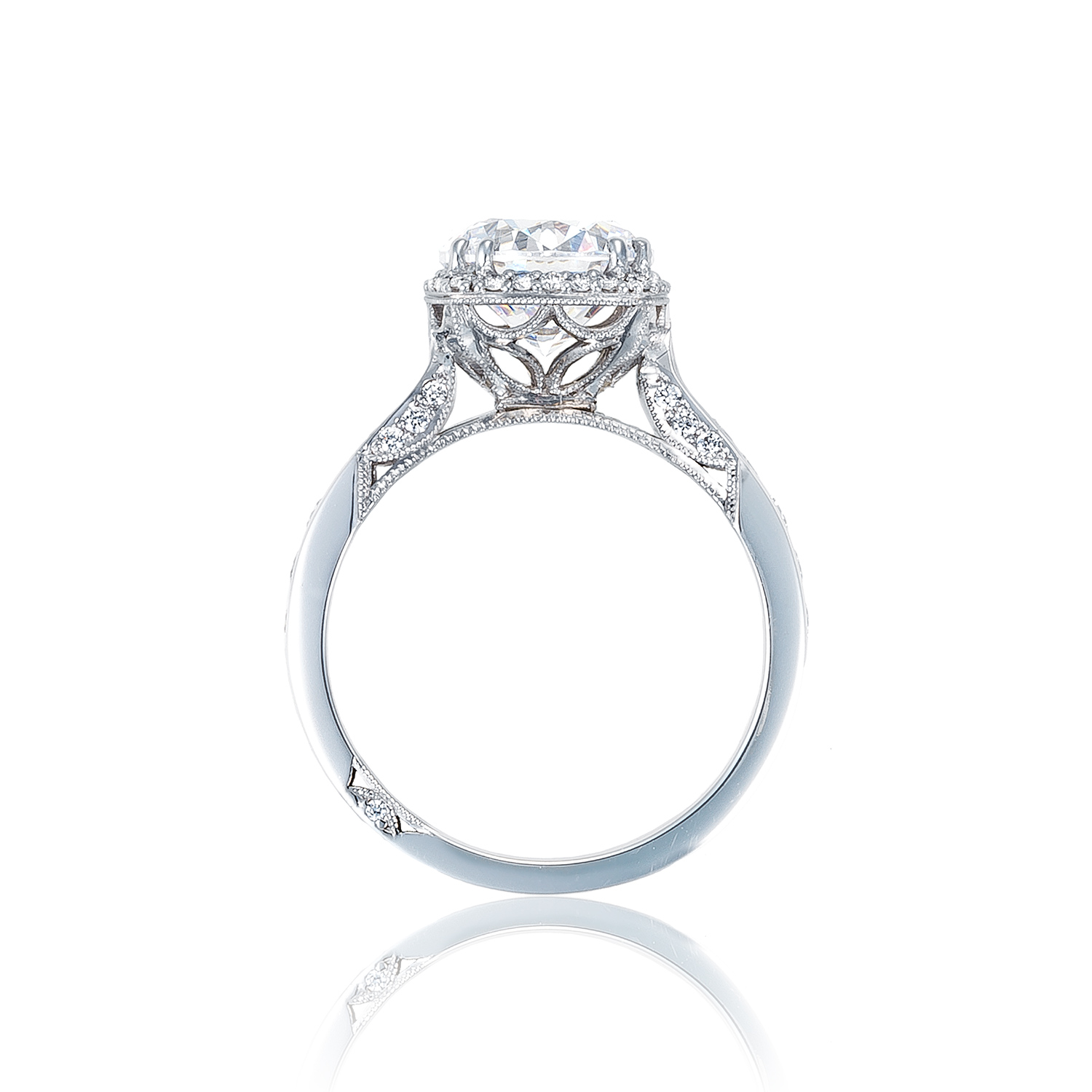 Channel Set Princess Shaped Diamond Engagement Ring