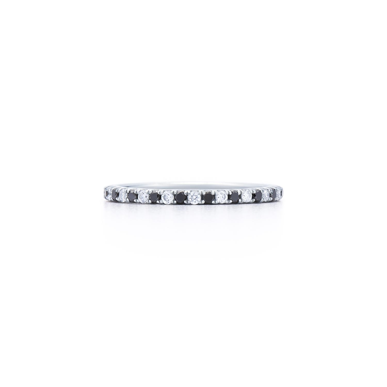 White and black diamond wedding ring