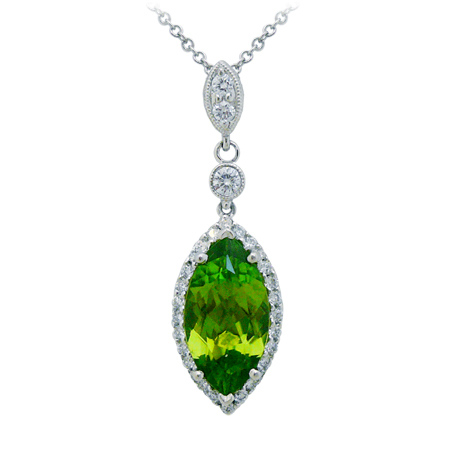 peridot pendant august birthstone gemstone jewelry DK Gems VOTED BEST st maarten jewelry stores