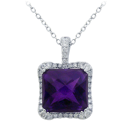 amethyst pendant february birthstone gemstone jewelry at DK Gems St Maarten jewelry stores