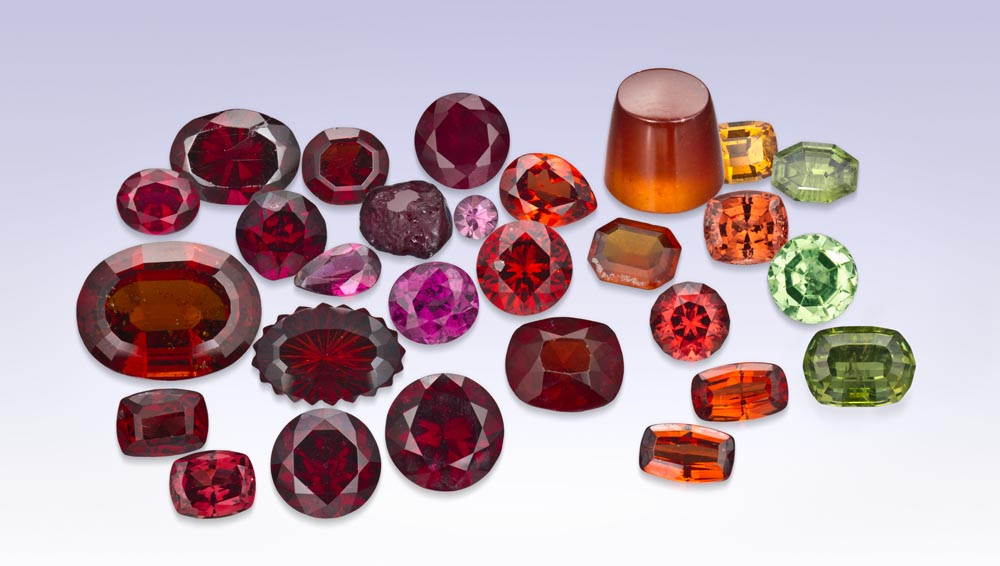 garnet january birthstone gemstone jewerly in different colors at DK Gems St Maarten jewelry stores