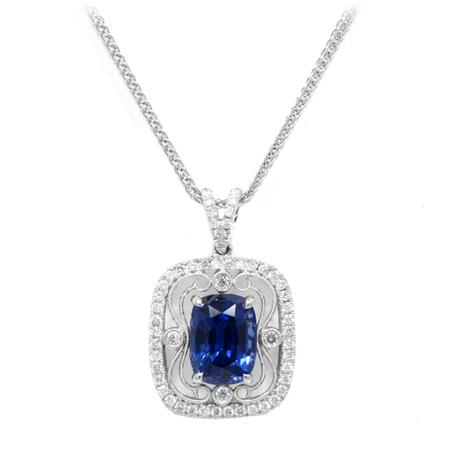 sapphire pendant september birthstone gemstone jewelry at DK Gems St Maarten jewelry stores