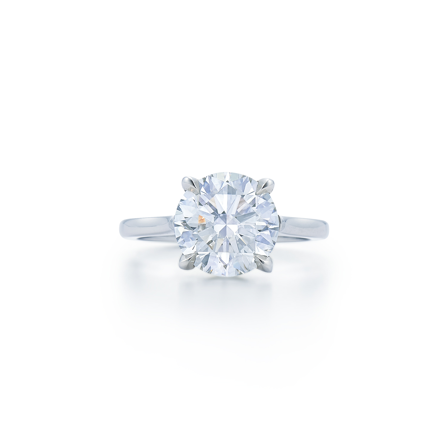 brilliant rounded diamond round ring platinum claw solitaire