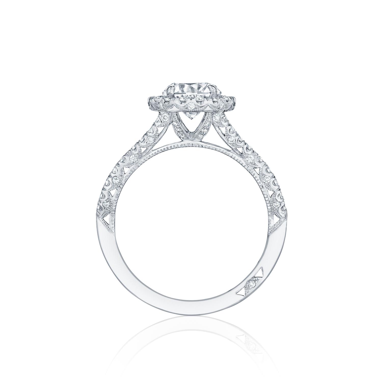 Petite Crescent Tacori engagement ring