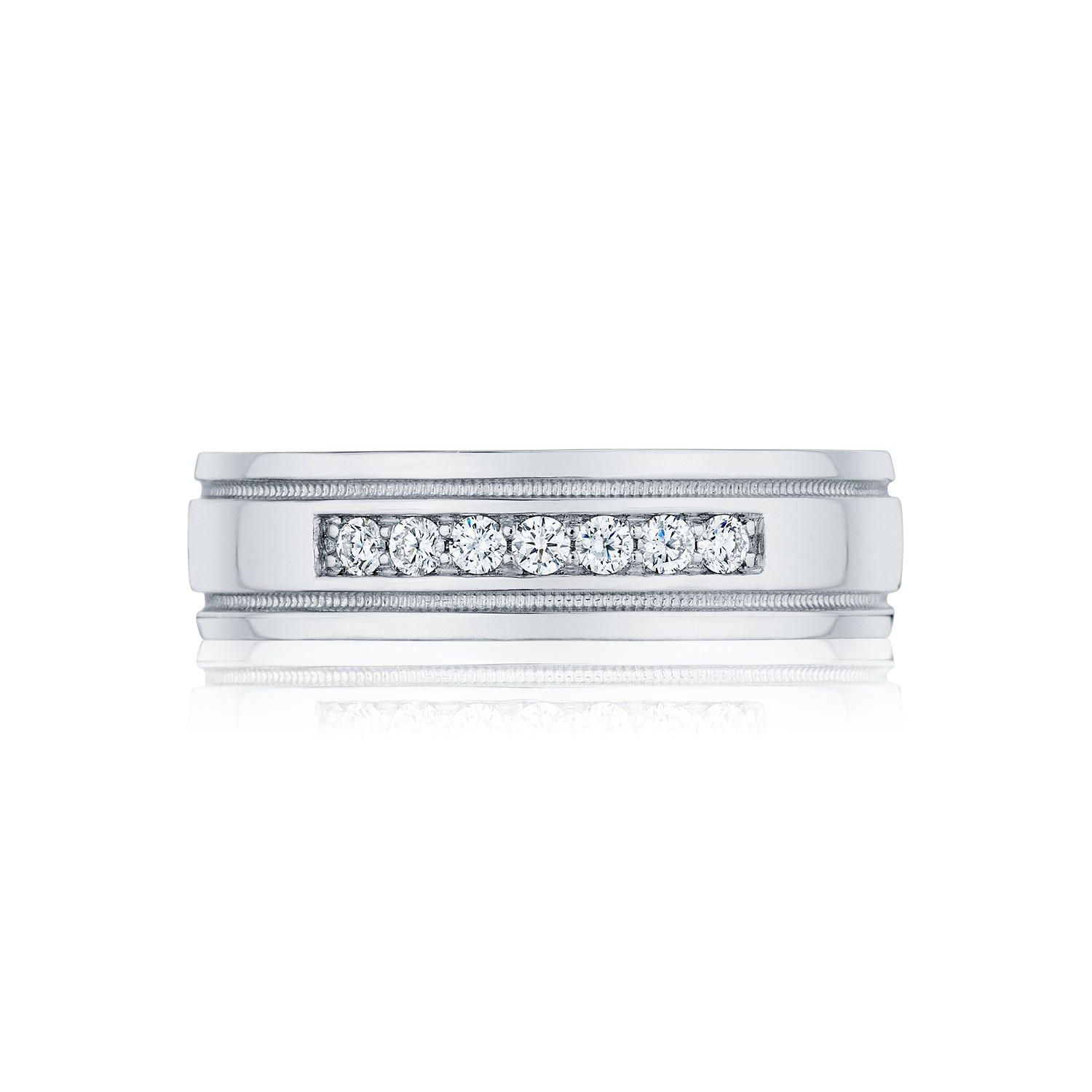 Crescent Men\'s wedding band | DK Gems